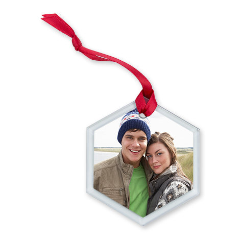 Glass Hexagon Ornament